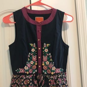 Modcloth embroidered dress